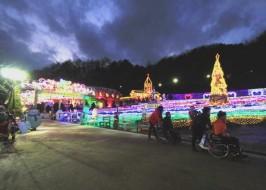 불빛동화축제의 진수를 느낄 수 있는 산타마을 입구