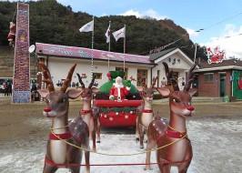 분역 산타마을의 상징은 루돌프가 끄는 산타 썰매다